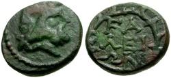 Ancient Coins - Elis, Olympia Æ Tetrachalkon / Zeus