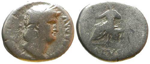 Ancient Coins - F/VG Nero Denarius / Salus