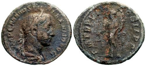 Ancient Coins - F/F Severus Alexander Limes Denarius