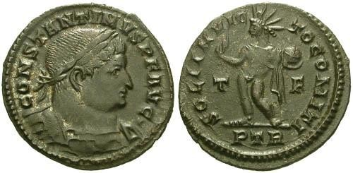 Ancient Coins - VF/EF Constantine the Great Follis / Sol  R4