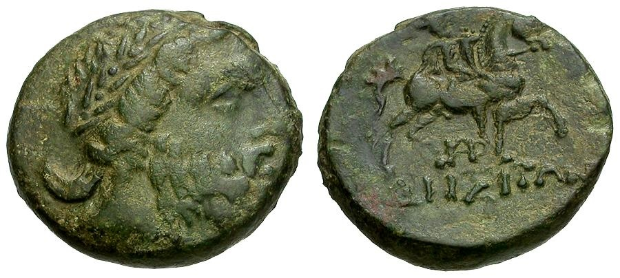 Ancient Coins - Thrace.  Odessos Æ20 / Zeus / Horseman