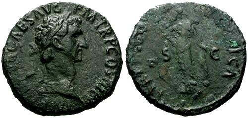 Ancient Coins - aEF/F Nerva AE As / Libertas