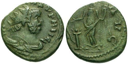 Ancient Coins - aVF/aVF Carausius Follis / Salus