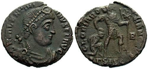 Ancient Coins - VF/VF AE3 of Valentinian I
