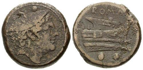Ancient Coins - aVF/aVF Roman Republic Sextans / 28 Grams