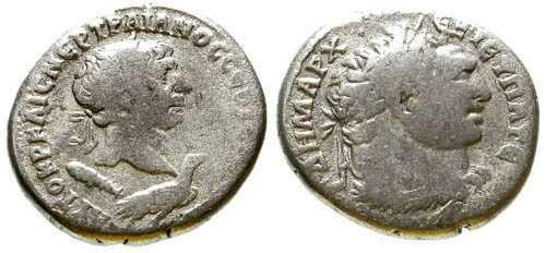 Ancient Coins - Trajan AR Tetradrachm of Tyre / Bust of Melqart