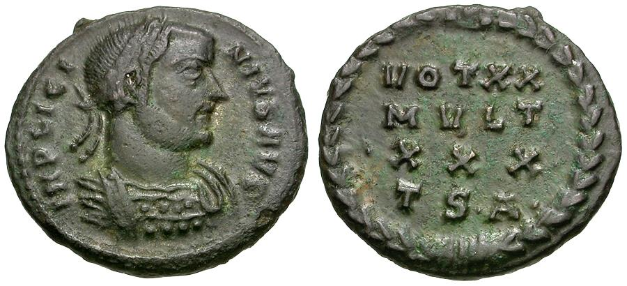 Ancient Coins - Licinius I (AD 308-324) Æ3 / Votive