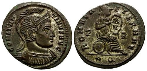 Ancient Coins - VF/VF Constantine I the Great AE / Romae Aeternae