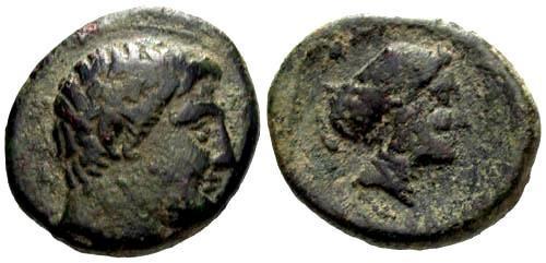 Ancient Coins - aVF/aVF AE18 Phalanna Thessaly
