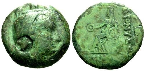 Ancient Coins - gF/gF Thrace Dionysopolis AE22 / Demeter