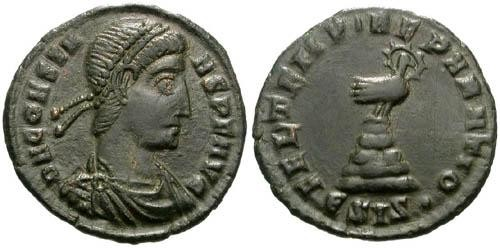 Ancient Coins - VF+ Constans 1/2 Centenionalis / Phoenix / Unpublished