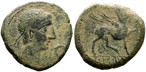 Ancient Coins - gF/VF Castulo Celtic Iberian Large AE AS / Sphinx