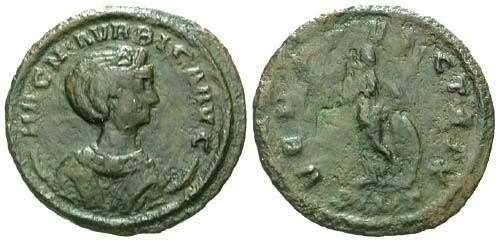 Ancient Coins - F/F Magnia Urbica Billon Antoninianus / Venus