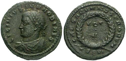 Ancient Coins - VF/VF Licinius II AE / Votive R4