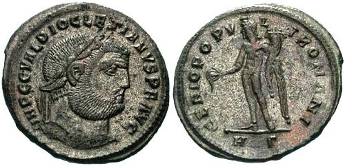 Ancient Coins - EF/EF Diocletian Large Silvered Follis