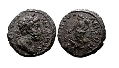 Ancient Coins - VF/VF Commodus Moesia Inferior Nicopolis AE19 / Fortuna