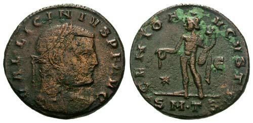 Ancient Coins - F/F Licinius Follis / Genius