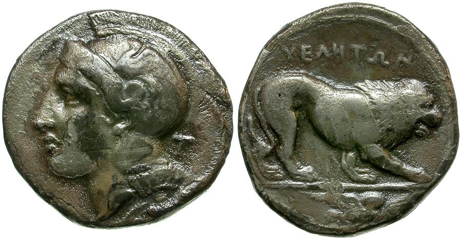 Ancient Coins - Lucania. Velia AR Didrachm / Lion