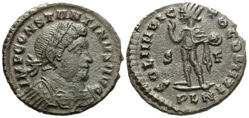 Ancient Coins - aVF/gVF Constantine I the Great AE Follis / Sol