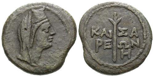 Ancient Coins - VF/VF Pantikapaion AE 21 Uncia / Livia and Torch