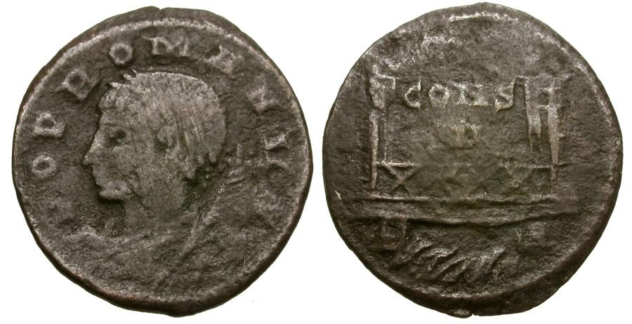 Ancient Coins - Constantine I The Great.  Commemorative Series Æ4 / Milvian Bridge