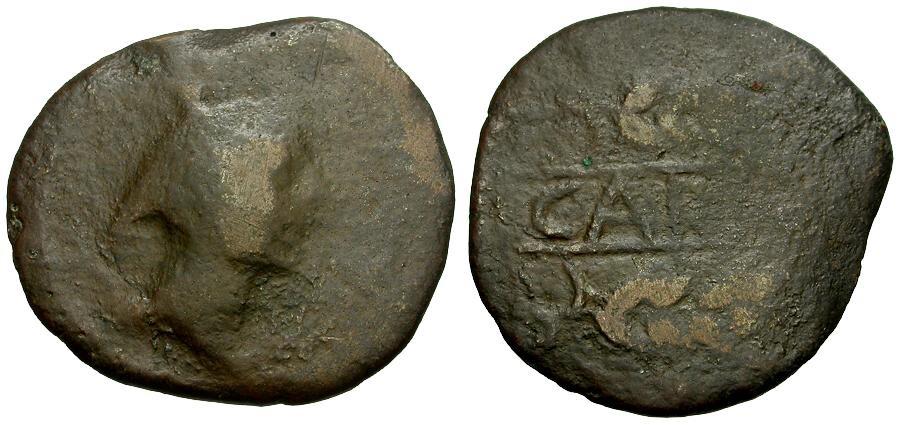 Ancient Coins - Spain.  Carmo Æ30 / Mercury