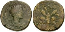 Ancient Coins - Commodus Æ Sestertius / Pile of Arms
