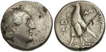 Ancient Coins - Ptolemaic Kingdom. Ptolemy II Philadelphos Dated AR Tetradrachm / Eagle