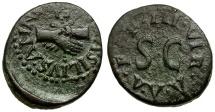 Ancient Coins - Augustus. Lamia Silius and Annius moneyers Æ Quadrans / Clasped Hands;