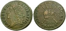 World Coins - Ireland. James II Æ Shilling / Irish Gun Money