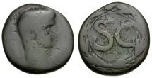 Ancient Coins - Claudius. Seleucia and Pieria. Antioch Æ26 / Wreath