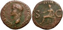 Ancient Coins - Caligula Æ AS / Vesta
