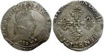World Coins - France. Bordeaux. Henri III AR Franc