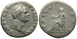 Ancient Coins - Vespasian (AD 69-79) AR Denarius / Salus