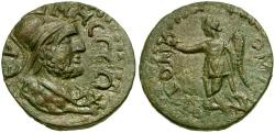 Ancient Coins - Pisidia. Termessos Major. Pseudo-Autonomous Issue Æ22 / Solymos and Nike