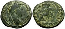 Ancient Coins - Marcus Aurelius, Phrygia Ancyra Æ30 / Cybele Seated