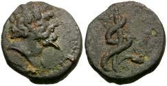 Ancient Coins - Seleucis and Pieria. Antioch Æ Tessera / Snake Staff