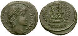 Ancient Coins - Constantius II (AD 337-361) Æ4 / Votive Wreath