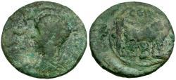 Ancient Coins - Nerva. Mysia. Parium Æ17 / Founder Ploughing