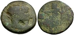 Ancient Coins - Septimius Severus and Julia Domna. Seleucis and Pieria. Laodicea ad Mare Æ31 / Zeus Enthroned