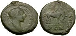 Ancient Coins - Elagabalus (AD 218-222). Moesia Inferior. Nikopolis ad Istrum Æ17 / Elephant