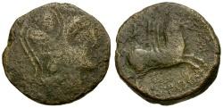 Ancient Coins - Spain. Emporiai Æ26 / Pegasos