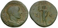 Ancient Coins - Gordian III (AD 238-244) Æ Sestertius / Jupiter