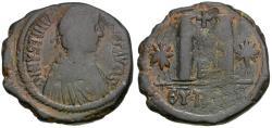 Ancient Coins - *Sear 217* Byzantine Empire. Justinian I (AD 527-565) Æ Follis
