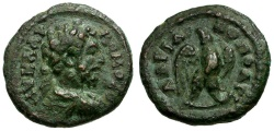Ancient Coins - Commodus. Thrace. Hadrianopolis Æ17 / Eagle