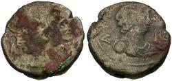 Ancient Coins - Nero (AD 54-68). Egypt. Alexandria Billon Tetradrachm / Bust of Alexandria