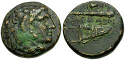 Ancient Coins - Alexander III the Great Æ18 / Bow and Club