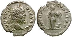 Ancient Coins - Septimius Severus (AD 193-211) AR Denarius / Africa