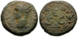 Ancient Coins - Caracalla, Syria, Seleucis and Pieria, Antioch Æ Semis / Wreath