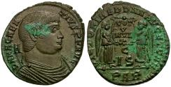 Ancient Coins - Magnentius Æ Maiorina / Two Victories